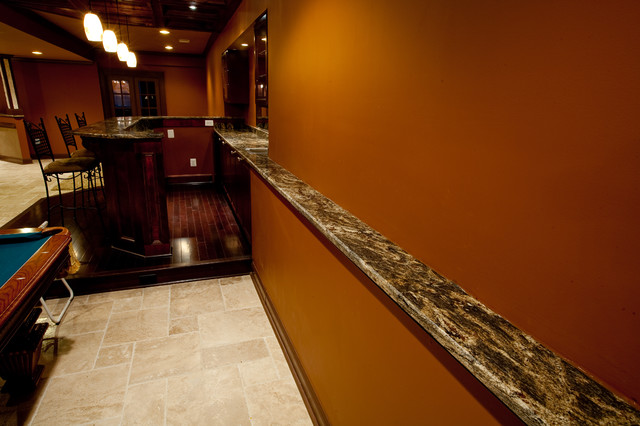 Custom Granite Drink Rail In Golden Thunder