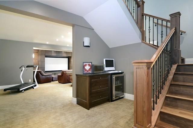 Custom Home #1 traditional-basement