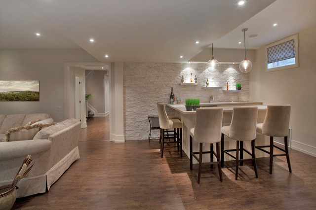 Custom Homes Lorne Park Contemporary Basement