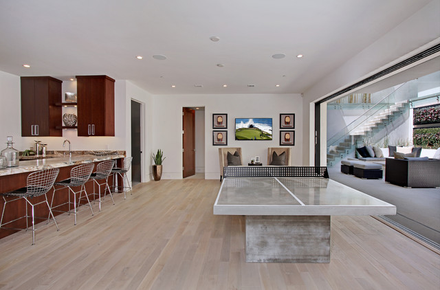 Good Custom White Oak Hardwood Floors Contemporary Basement