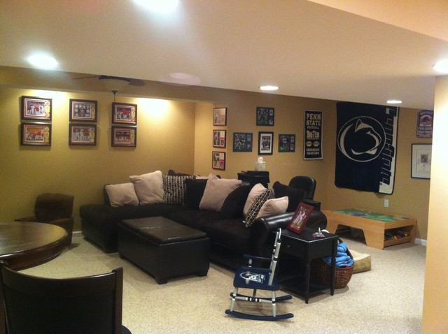 David & Tracy Lee, Dover, PA Basement Remodeling Project traditional-basement