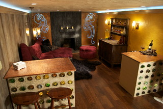 DIY Network House Crashers basement remodel - Eclectic - Basement - Cleveland - by Realstone Systems