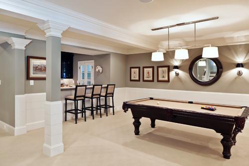 decorate a basement - minimalistic design