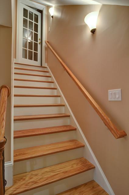 dunwoody basement eclectic basement basement stairway lighting