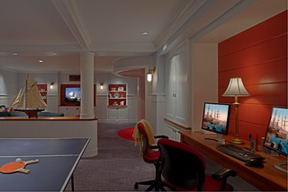 Eastern Shore Play Room And Sleeping Quarters Beach Style Basement Baltimore By Patrick