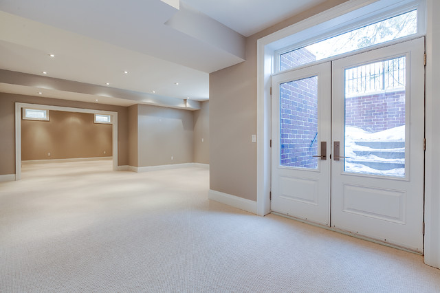 This is an example of a traditional basement in Toronto.