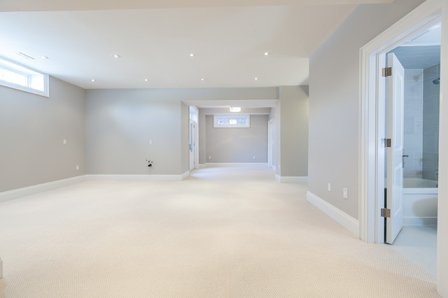 Traditional basement in Toronto.