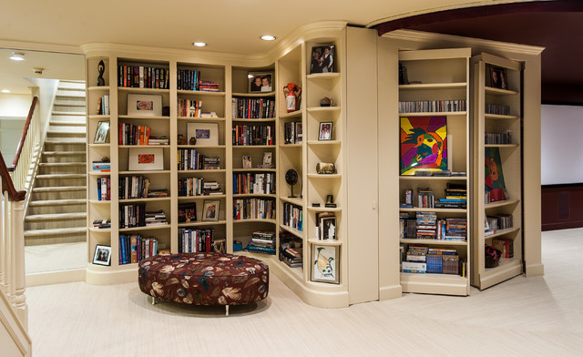 Eclectic Spaces - Traditional - Basement - dc metro - by Teri Interiors