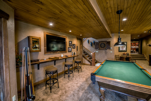 Elaborate Bar : rustic basement from www.houzz.com size 640 x 428 jpeg 112kB