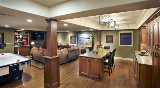 traditional basement by Kristin Petro Interiors, Inc.