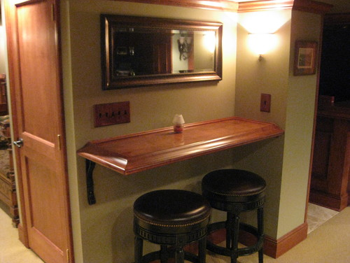 Where did you get the floating shelf with the bar stools for When did table 52 open
