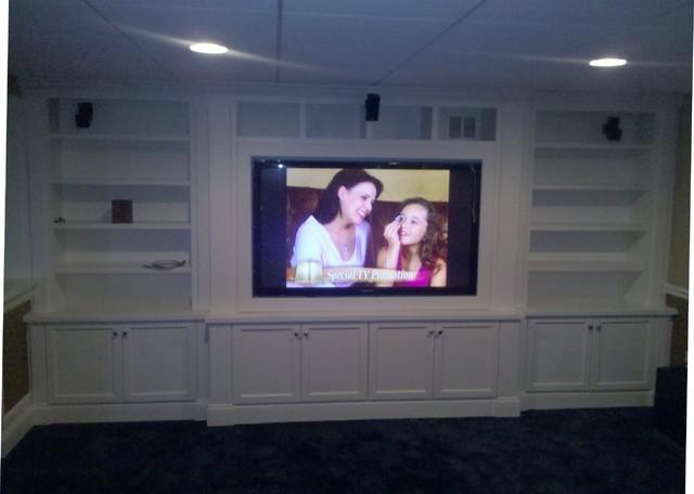 Entertainment Center - Traditional - Basement - boston ...