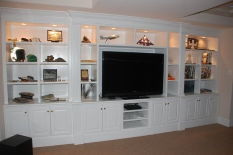 entertainment centers traditional basement orlando by l b