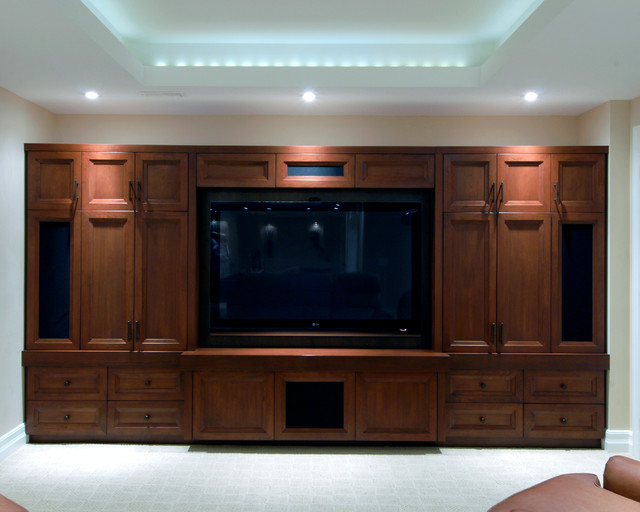 Entertainment Unit Contemporary Basement Ottawa By