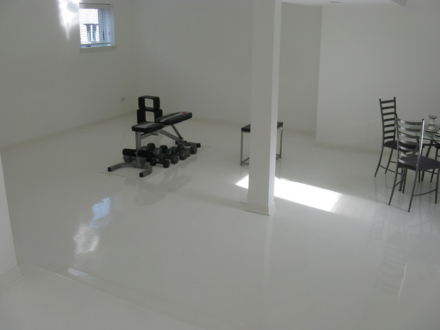 Epoxy basement flooring for Bare floor meaning