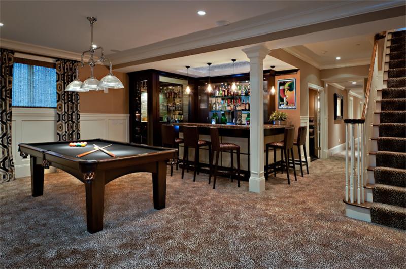 Elegant basement photo in New York