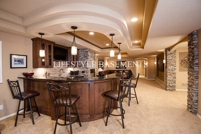 Evergreen Project Traditional Basement Minneapolis By - Lifestyle basements
