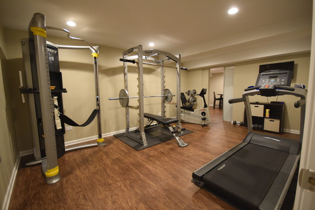 Exercise Room Transitional Basement Chicago By J