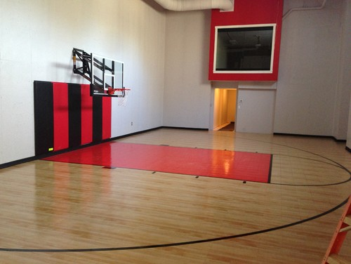 Rough price on an indoor basketball court for a home for Indoor basketball court price