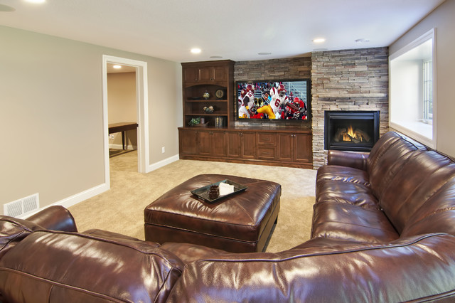 traditional basement by James Barton Design Build