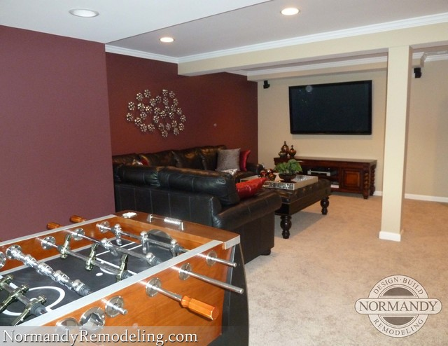 Finished Basement Adds Valuable Living Space  Traditional  Basement  Chicago  by Normandy