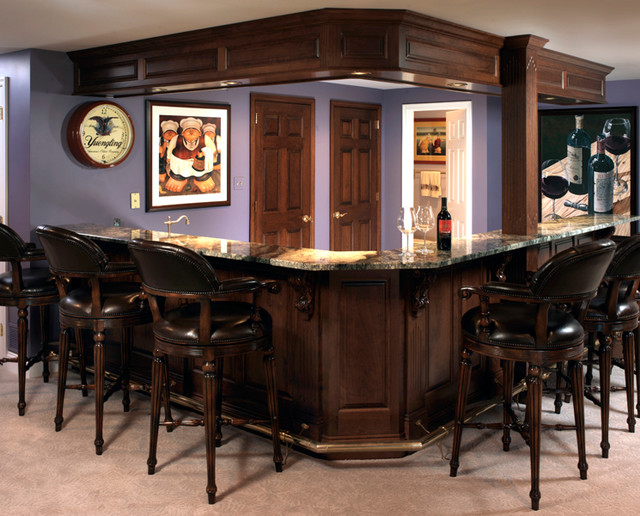 finished basement bar and home office traditional basement basement home office