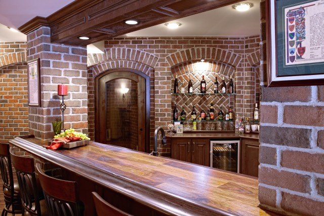 Finished Basement Bar And Wine Cellar Basement Detroit By M J Whelan C