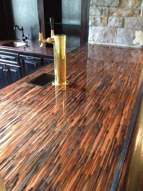 Finished basement for How to make a copper bar top