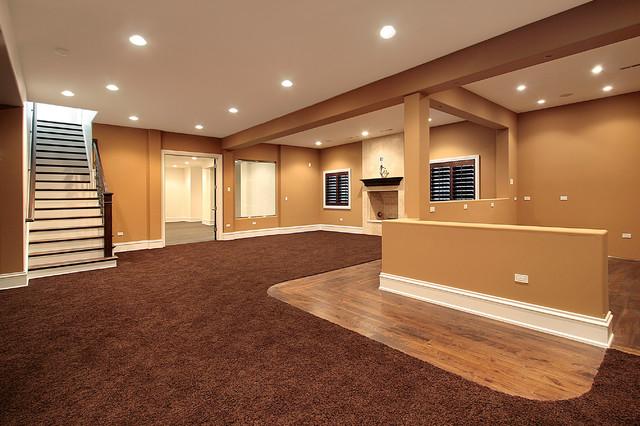 Finished basement carpet for Modern finished basements