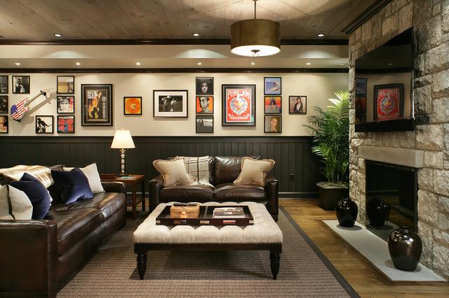 basement transitional family room - photo #8