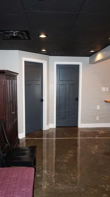 Finished basement modern basement louisville for Modern finished basements