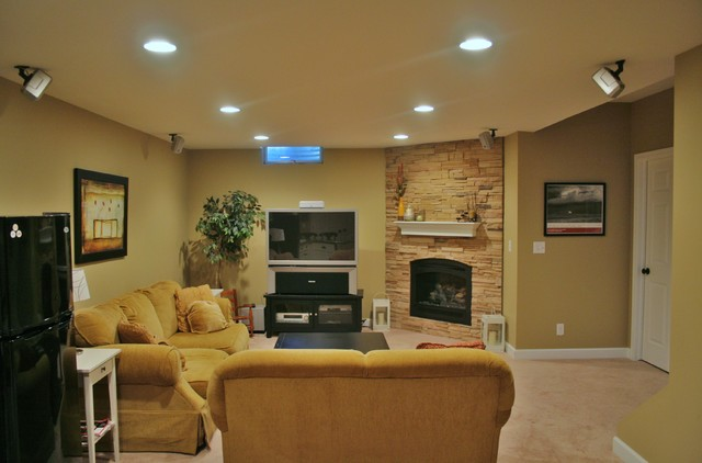 finished basement in ann arbor mi traditional