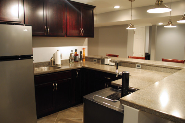 FInished basement in Manassas, VA contemporary-basement