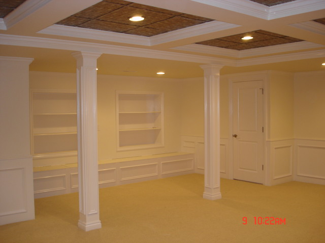 Finished Basement traditional basement
