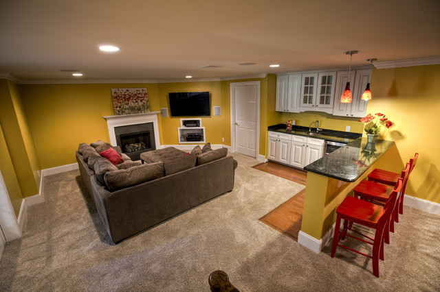 Finished Basement Malvern Traditional Basement