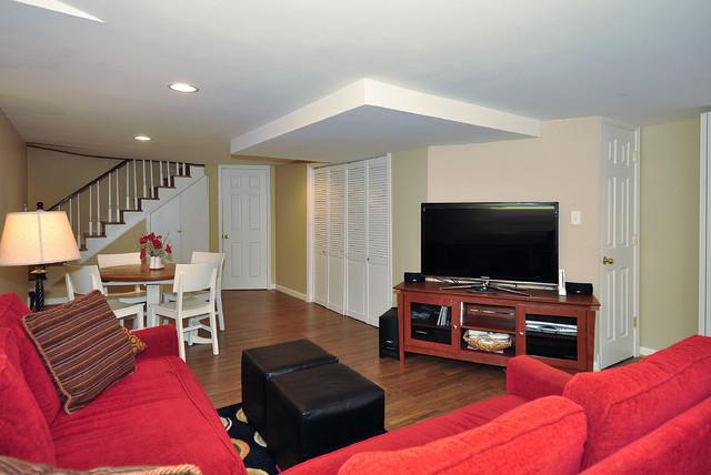 Finished basement traditional-basement