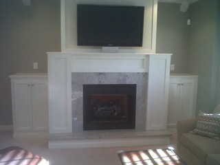 Finished Basement with Gas Fireplace