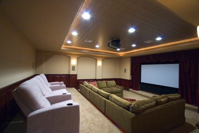 Finished basements modern basement other metro by for Home theater basement design ideas