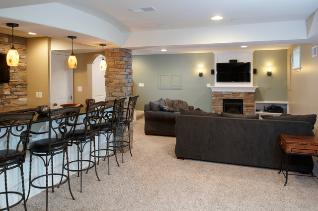 Finished Basements Modern Basement Other Metro By