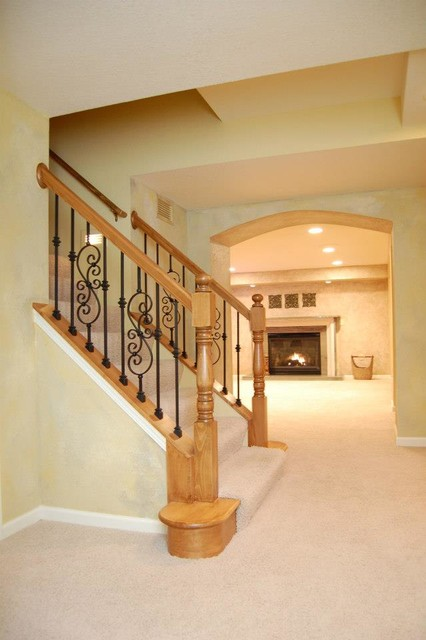 Finished lower level in New Berlin traditional-basement