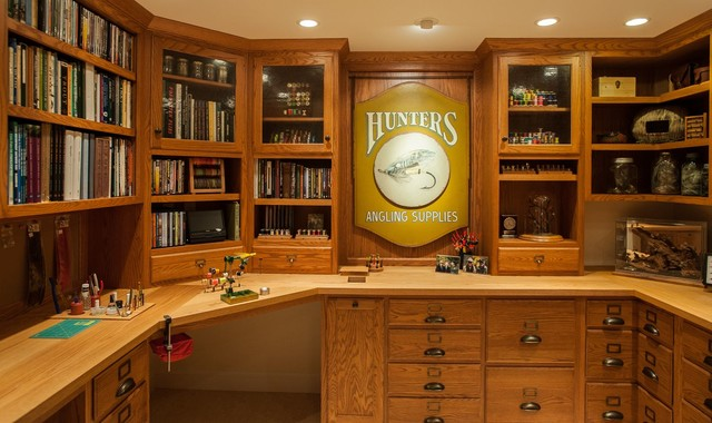 Fly Tying Room - Traditional - Basement - boston - by Today's Real ...