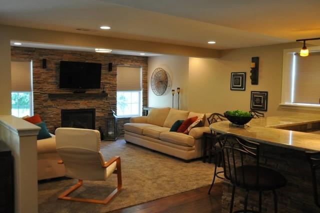 Fogelsville Basement traditional-basement