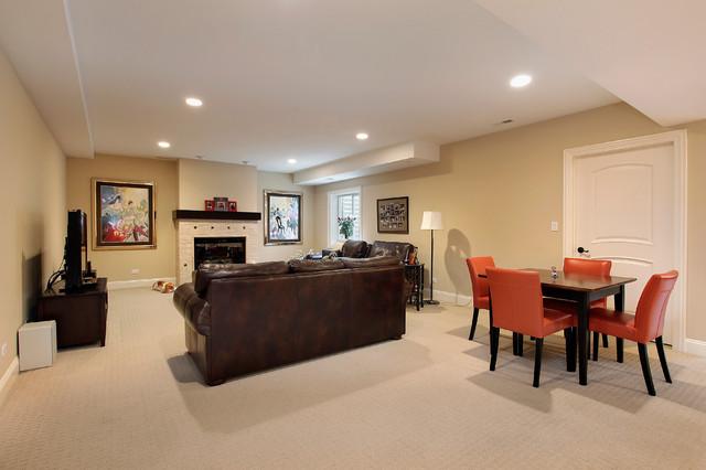 Elegant basement photo in Denver