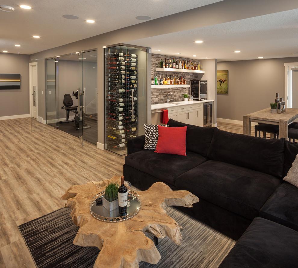Home Design Basement Ideas: Fortress Bay Basement