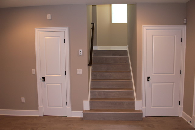 Foyer With Stairs To Basement : Foyer interior stairs contemporary basement new