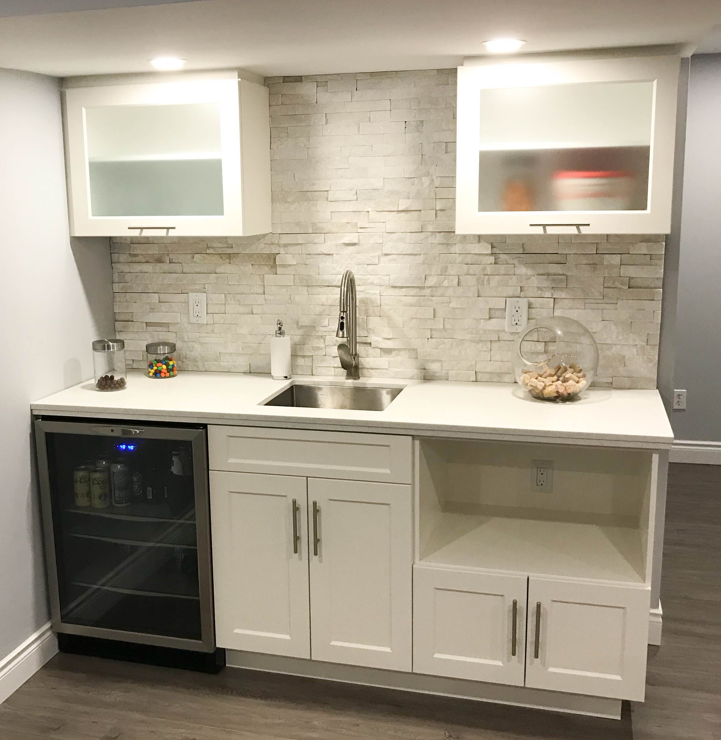 9 Beautiful Small Basement Pictures & Ideas   August, 9   Houzz