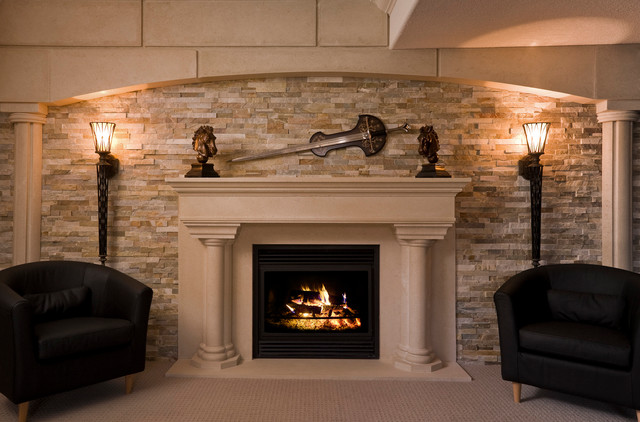 french chateaux mediterranean basement toronto by millennium