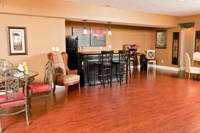 French Country traditional-basement