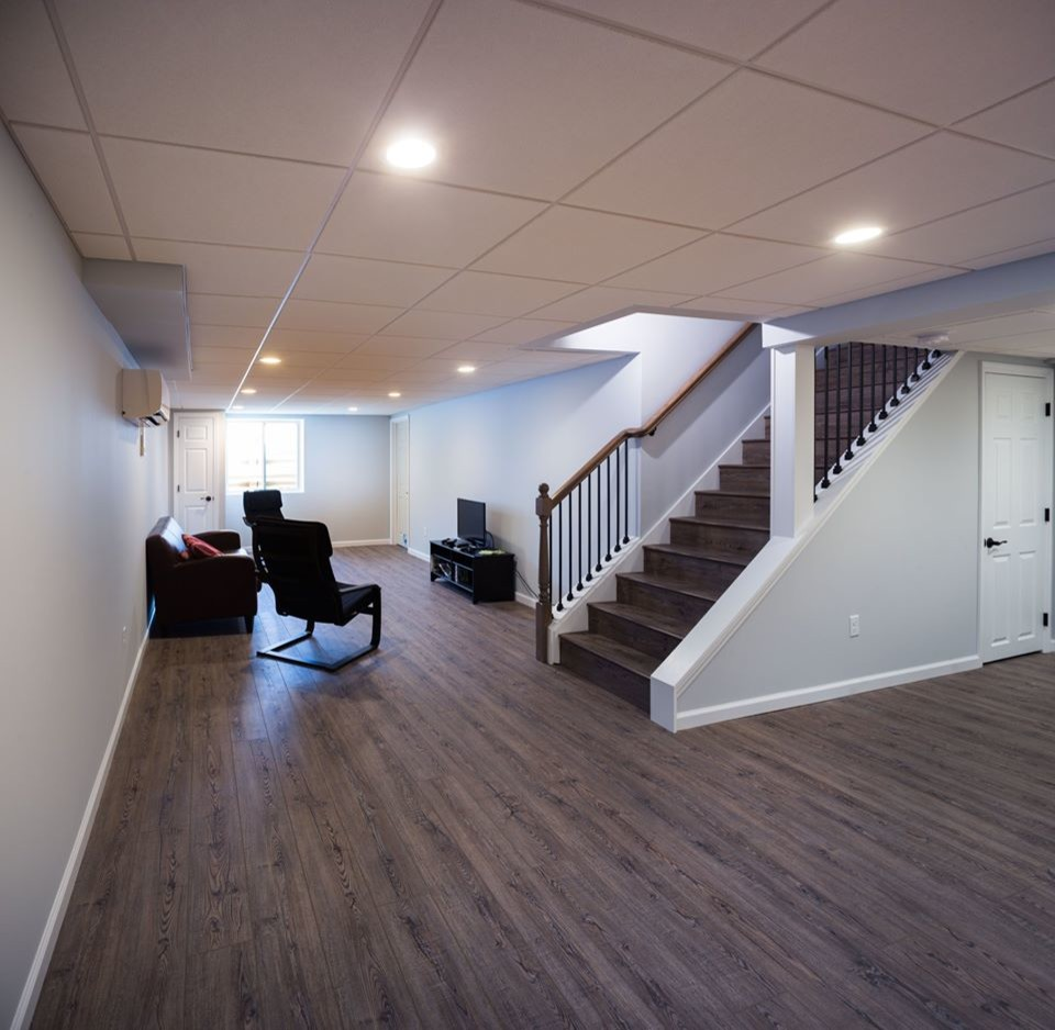 Home Design Basement Ideas: From Storage Room To Fun Family Room: A Basement Remodel