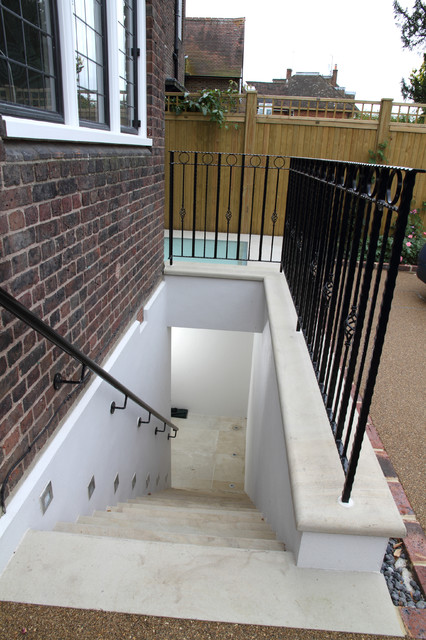 Front garden basement access for Basement entry
